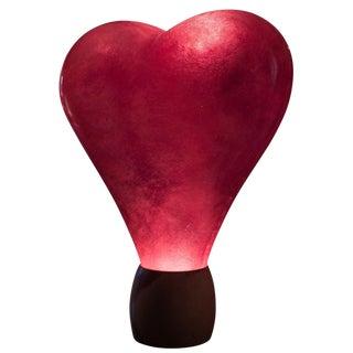 Illuminated Love Glow Heart Sculpture Lighting Fixture For Sale
