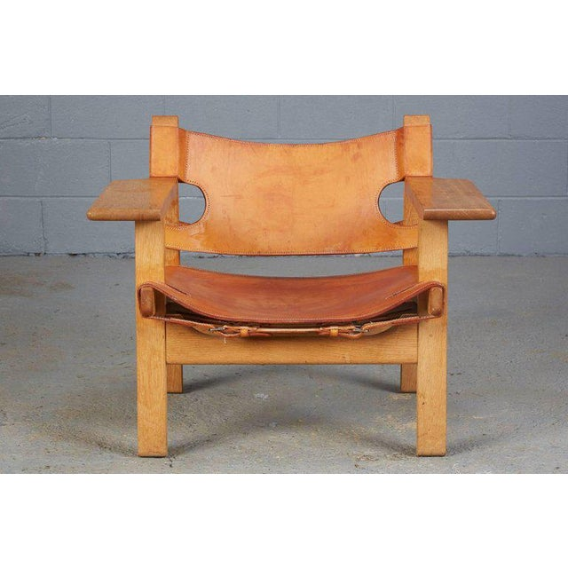 Pair of Spanish Chairs by Børge Mogensen for Fredericia Furniture For Sale - Image 10 of 12