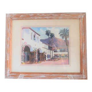 """1980s """"Palm Springs I"""" Print by Robert Hockenberry, Framed For Sale"""