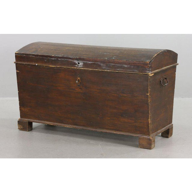 19th Century Primitive Dome-Top Coffin Chest For Sale - Image 9 of 9