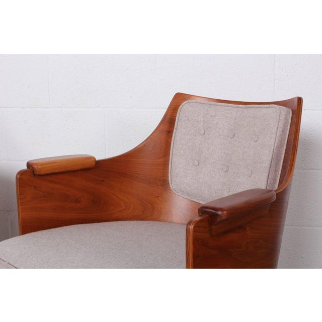 Textile Rare Pair of Lounge Chairs by Edward Wormley for Dunbar For Sale - Image 7 of 10