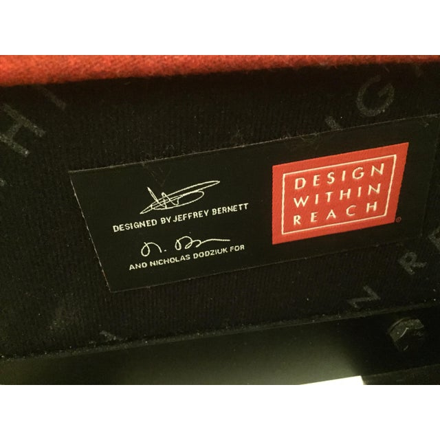 Design Within Reach Red Upholstered Wide Bed - Image 6 of 8