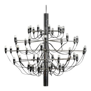Mid-Century Chromed Mid-Century 2097/50 Chandelier by Gino Sarfatti for Flos, 1958 For Sale