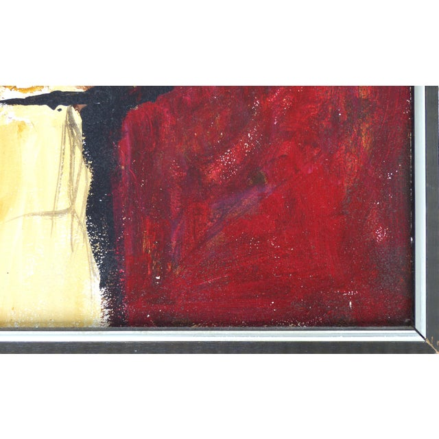 1960s Oil on Panel Board of a Seated Woman With Headscarf, Unsigned C1965 For Sale - Image 5 of 11