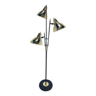 Triennale Gerald Thurston Brass Floor Lamp for Lightolier, 1950s For Sale