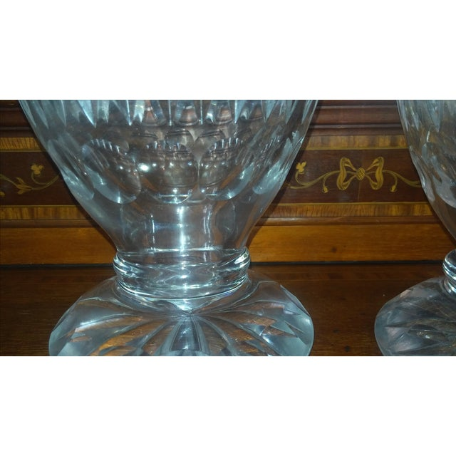 Antique Large Waterford Irish Crystal Vases - 2 For Sale - Image 9 of 9