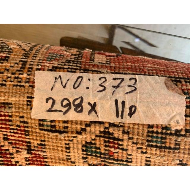 White Vintage Persian Kazak Floor Runner-3'5'x9'8' For Sale - Image 8 of 10