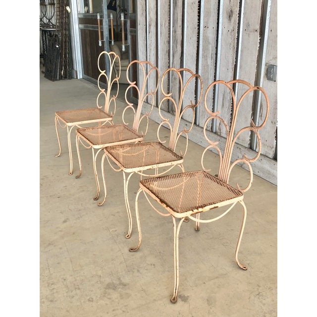 Midcentury French Garden Chairs For Sale - Image 4 of 6