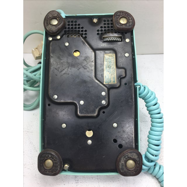 Turquoise 500 Rotary Dial Desk Phone - Image 6 of 11