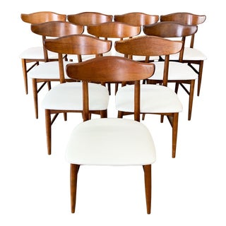 Set of 10 Mid Century Modern Dining Chairs For Sale