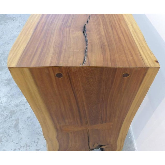 Guarapa Wood Console Table by Brazilian Contemporary Artist Valeria Totti For Sale - Image 5 of 11