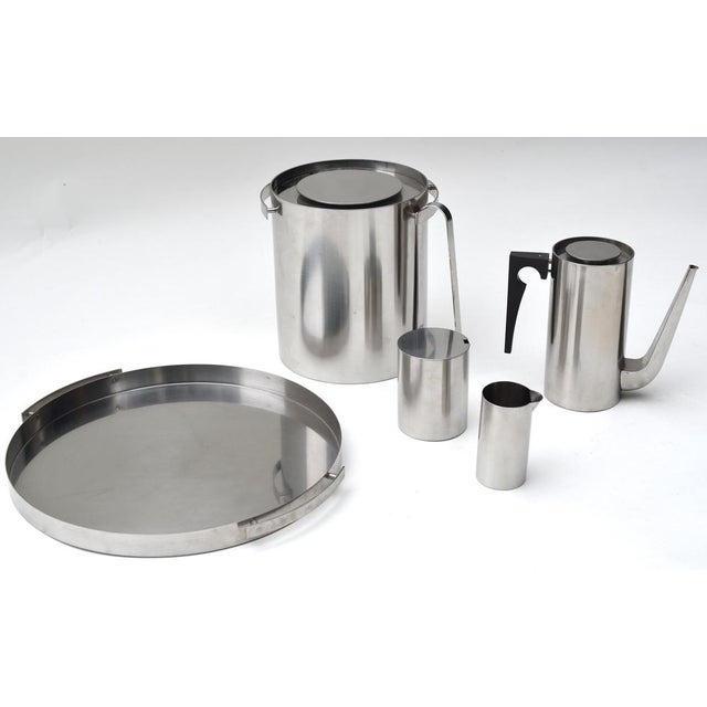 Metal Arne Jacobsen Stainless Set for Stelton For Sale - Image 7 of 8