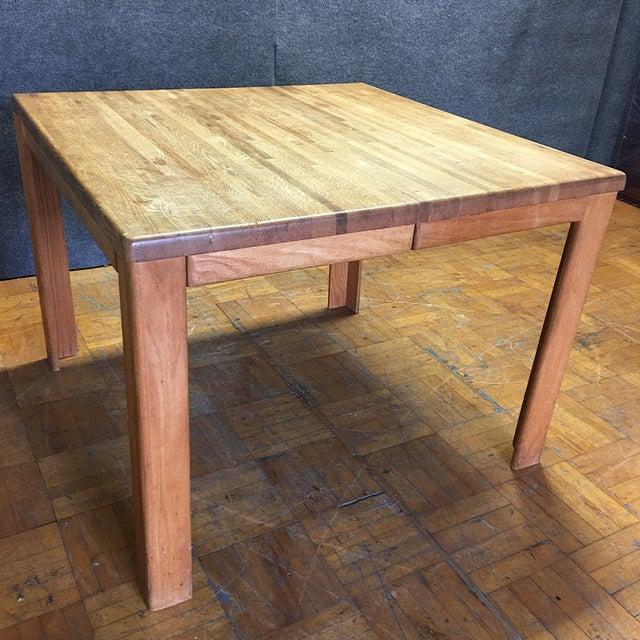 Oak Butcher Block Dining Table - Image 2 of 7