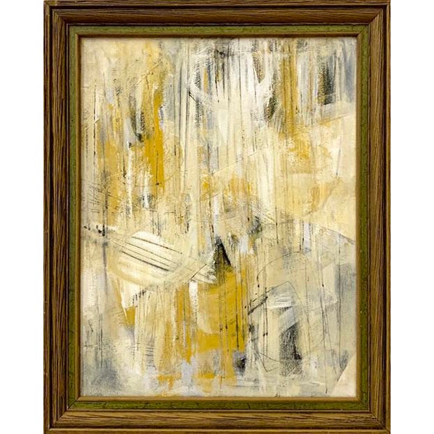 2020s Original Abstract Mid-Century Inspired Painting, Framed For Sale - Image 5 of 5