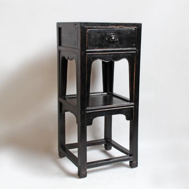 Antique Black Side Table - Image 3 of 3