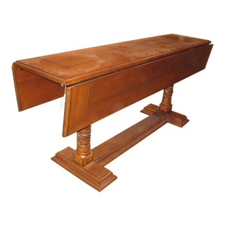 Traditional Sherrill Furniture Drop Leaf Dining Table For Sale