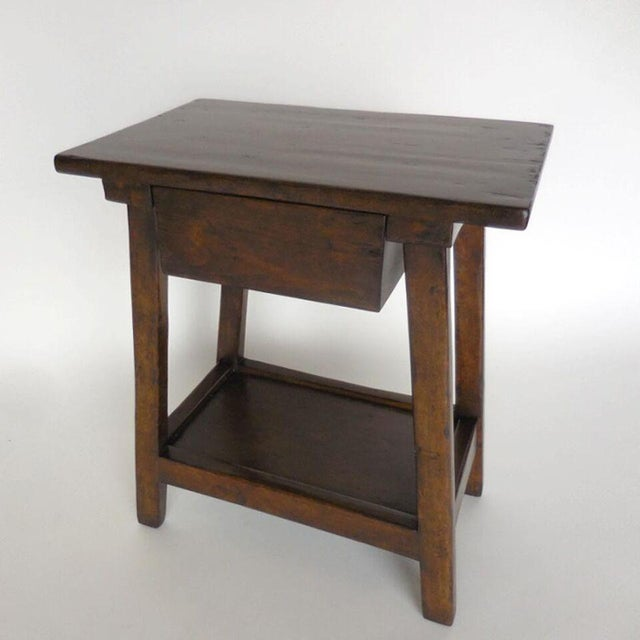 Custom Wood Nightstand/Side Table with Drawer and Shelf - Image 5 of 9