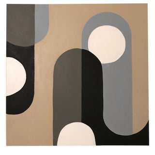 Mid-Century Inspired Acrylic Painting by Tony Marine For Sale