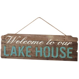 """Welcome to the Lake"" Wooden Sign"