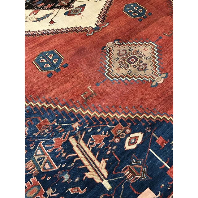 Antique Persian Bakshaish Rug - Image 4 of 6