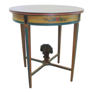 Italian Style Paint Decorated Center Table For Sale