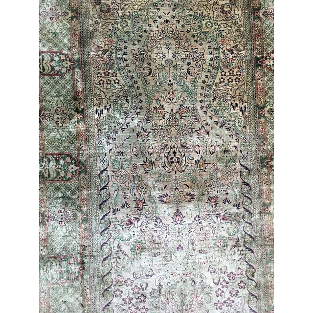 Contemporary Silk Hereke Prayer Area Rug - 2′6″ × 4′ For Sale - Image 3 of 7