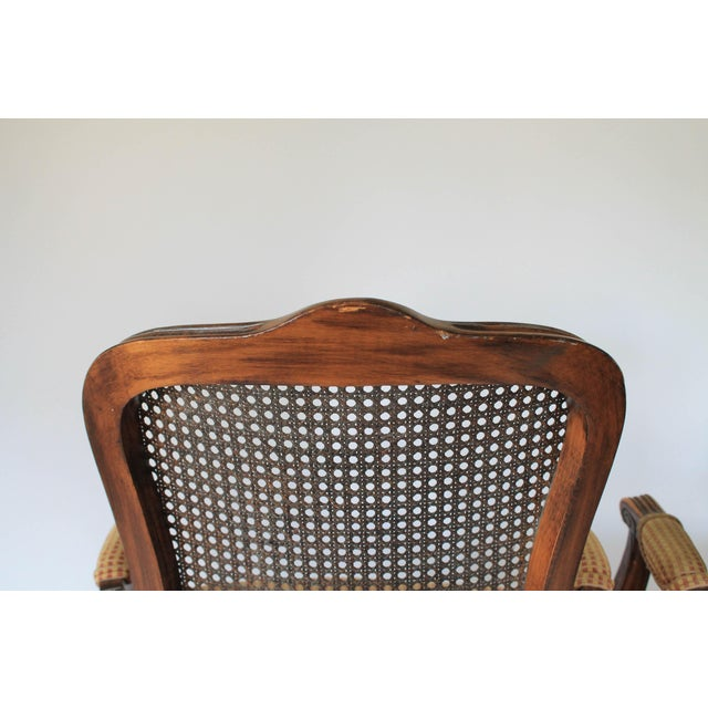 Caned Fauteuils, a Pair For Sale - Image 9 of 10