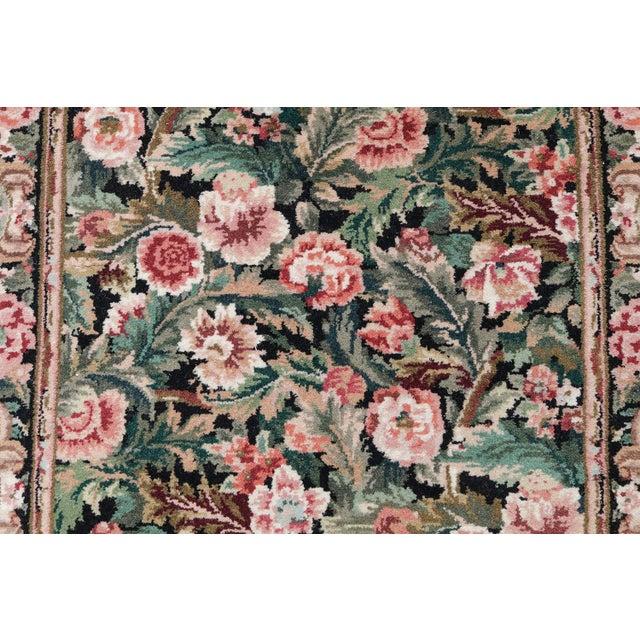 Hand-Knotted Floral European Design Runner Rug Floral - 2′6″ × 12′ - Image 2 of 5