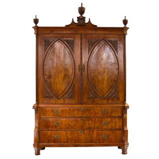 18th Century Dutch Louis XVI Mahogany Cabinet For Sale