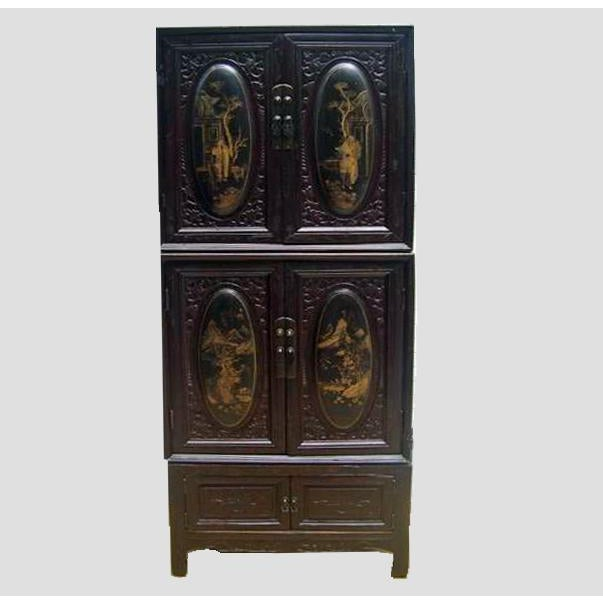 This stunning three-piece Chaozhou cabinet was found in Chaozhou, one of the most famous cultural and historical cities in...