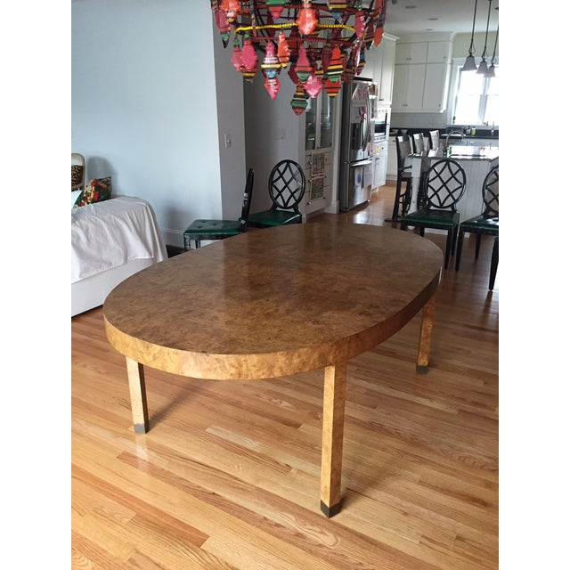 Mid-Century Modern Burlwood Dining Table For Sale - Image 13 of 13