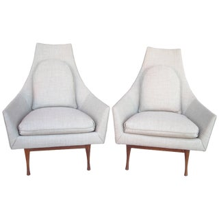 1950s Mid-Century Modern Paul McCobb Widdicomb Symmetric Group Lounge Chairs - a Pair For Sale