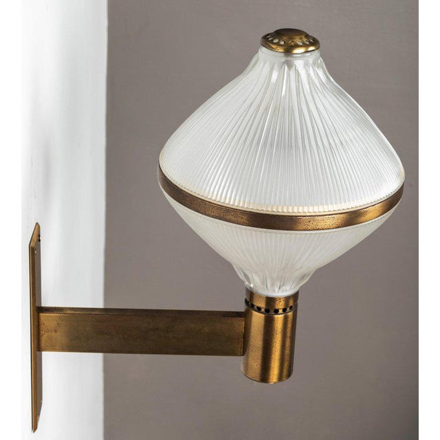 Large 1960s Studio B.B.P.R Brass Sconce For Sale - Image 10 of 13