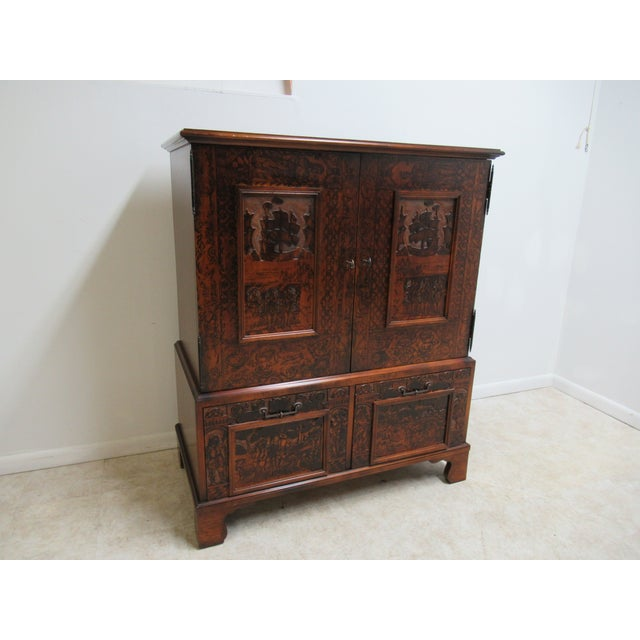 Hickory Chair Thomas Obrien Collection Tv Amoire Entertainment Cabinet great shape. tight and sturdy...flight wear...