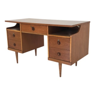 Floating Top Mid Century Desk For Sale