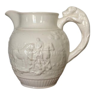 Wedgwood Creamware Equestrian Pitcher For Sale