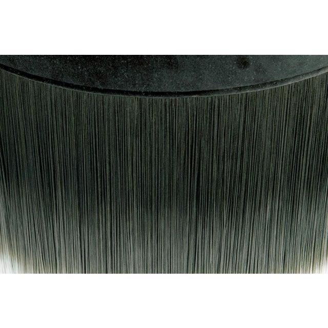 Moooi Dark Gray Velvet Pouf with Fringe For Sale - Image 4 of 5