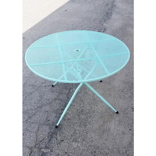 Rid-Jid Steel Outdoor/Patio Dining Table With Chairs Set For Sale In Los Angeles - Image 6 of 8