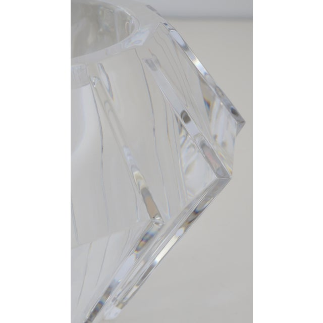 Mid-Century Swedish Modern Orrefors Crystal Faceted Bowl For Sale - Image 10 of 12