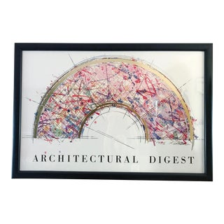"1980s Vintage William Gatewood ""Fan II"" Architectural Digest Seriograph Print For Sale"
