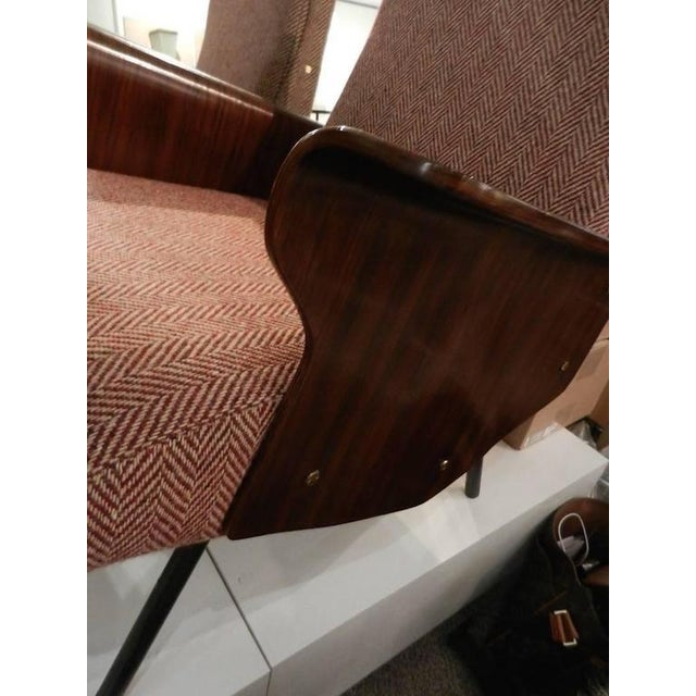 Osvaldo Borsani Mid-Century Osvaldo Borsani Model D72 Club Chair For Sale - Image 4 of 10