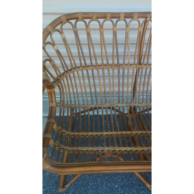 Vintage Franco Albini Rattan Loveseat and Chair - a Pair For Sale - Image 4 of 13