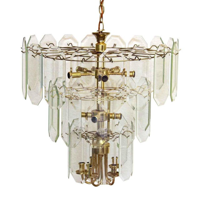 Metal Mid Century Tiered Wedding Cake Chandelier For Sale - Image 7 of 7