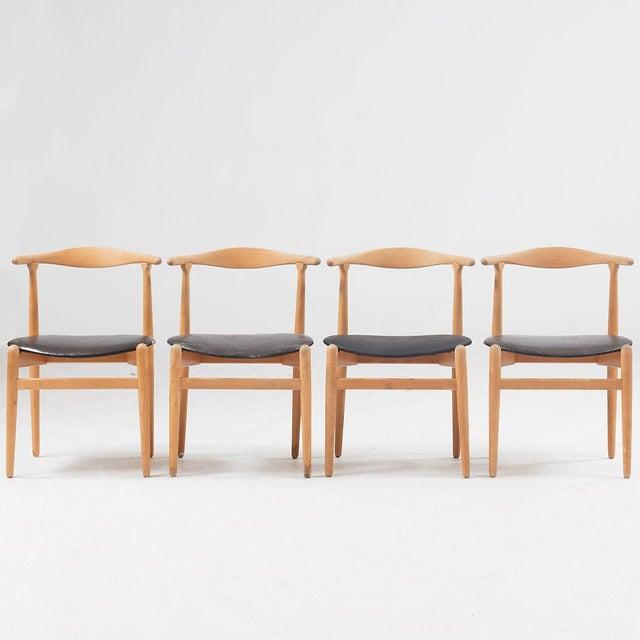 """Hans J Wegner Dining Chair Model """"1934"""" for Fritz Hansen Set of Four For Sale - Image 6 of 6"""