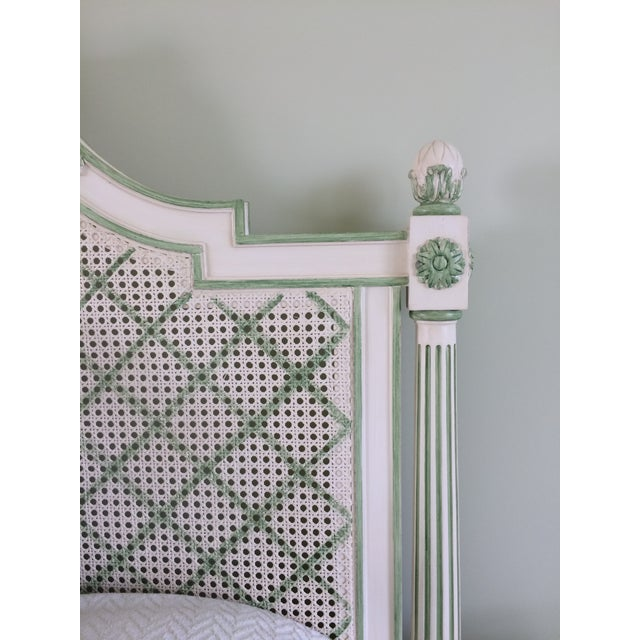 Julia Gray Queen Cane Bed For Sale - Image 5 of 7