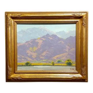 Samuel Hyde Harris-Desert Landscape-Important California Impressionist-Oil Painting
