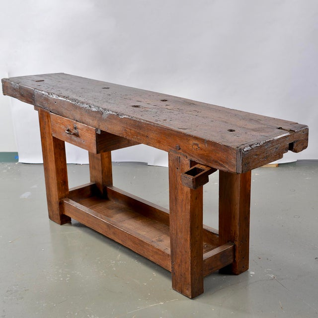 French 19th Century French Carpenters Workbench Table For Sale - Image 3 of 13