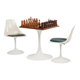 Saarinen Tulip Table and Chairs Rosewood Chess Set For Sale