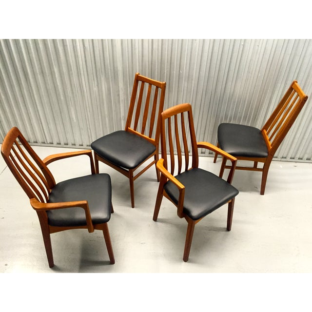 Svegards Marka Teak Dining Chairs - Set of 4 - Image 4 of 11