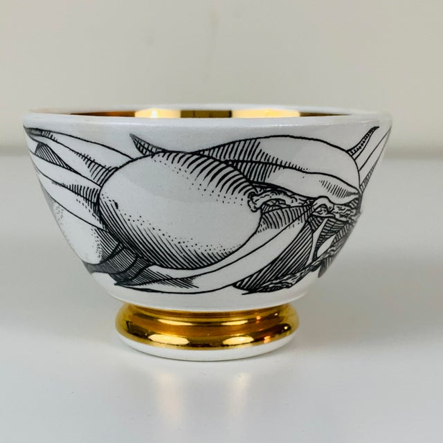 Ceramic 1960s Piero Fornasetti Snack Bowls - Set of 3 For Sale - Image 7 of 13